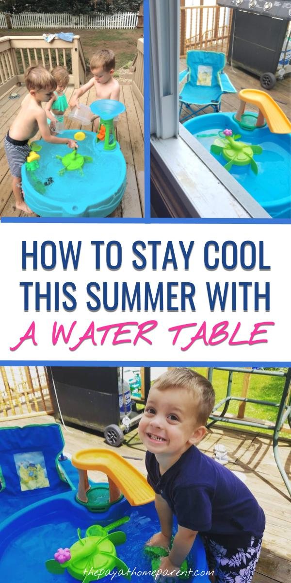 Water Table outdoor fun activities for kids