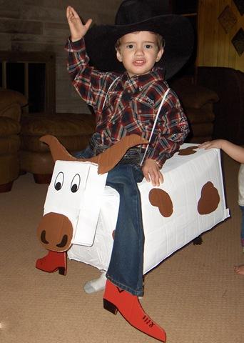 DIY Cowboy with Bull Costume