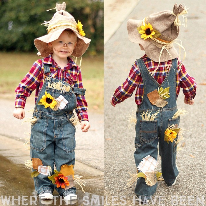DIY Scarecrow Costume For Kids