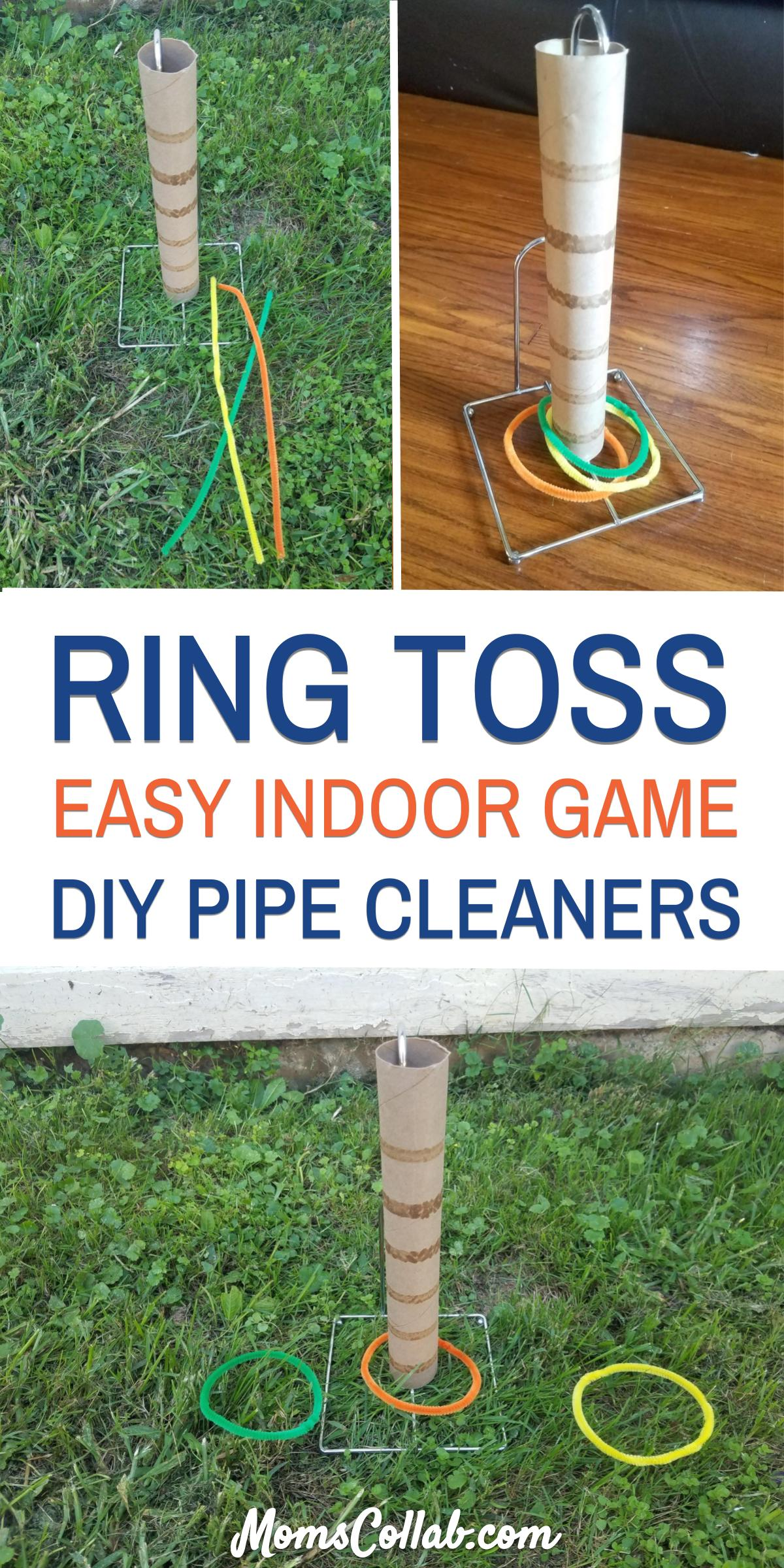 Indoor ring toss game with pipe cleaners