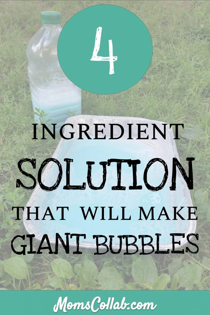 easy bubbles solution for giant bubbles