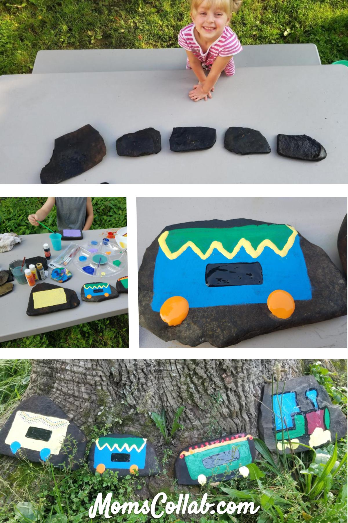 painted rock train