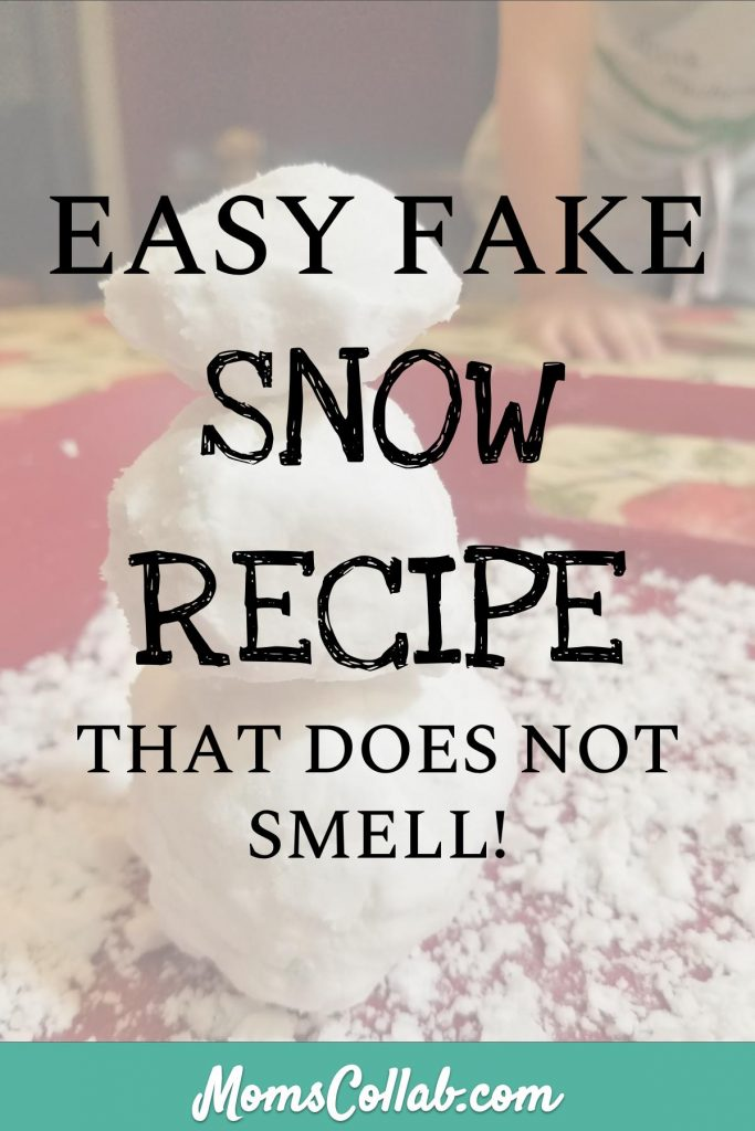 unscented fake snow recipe