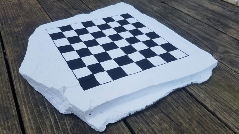 DIY Checkerboard Game for Kids to Decorate, Play or Gift