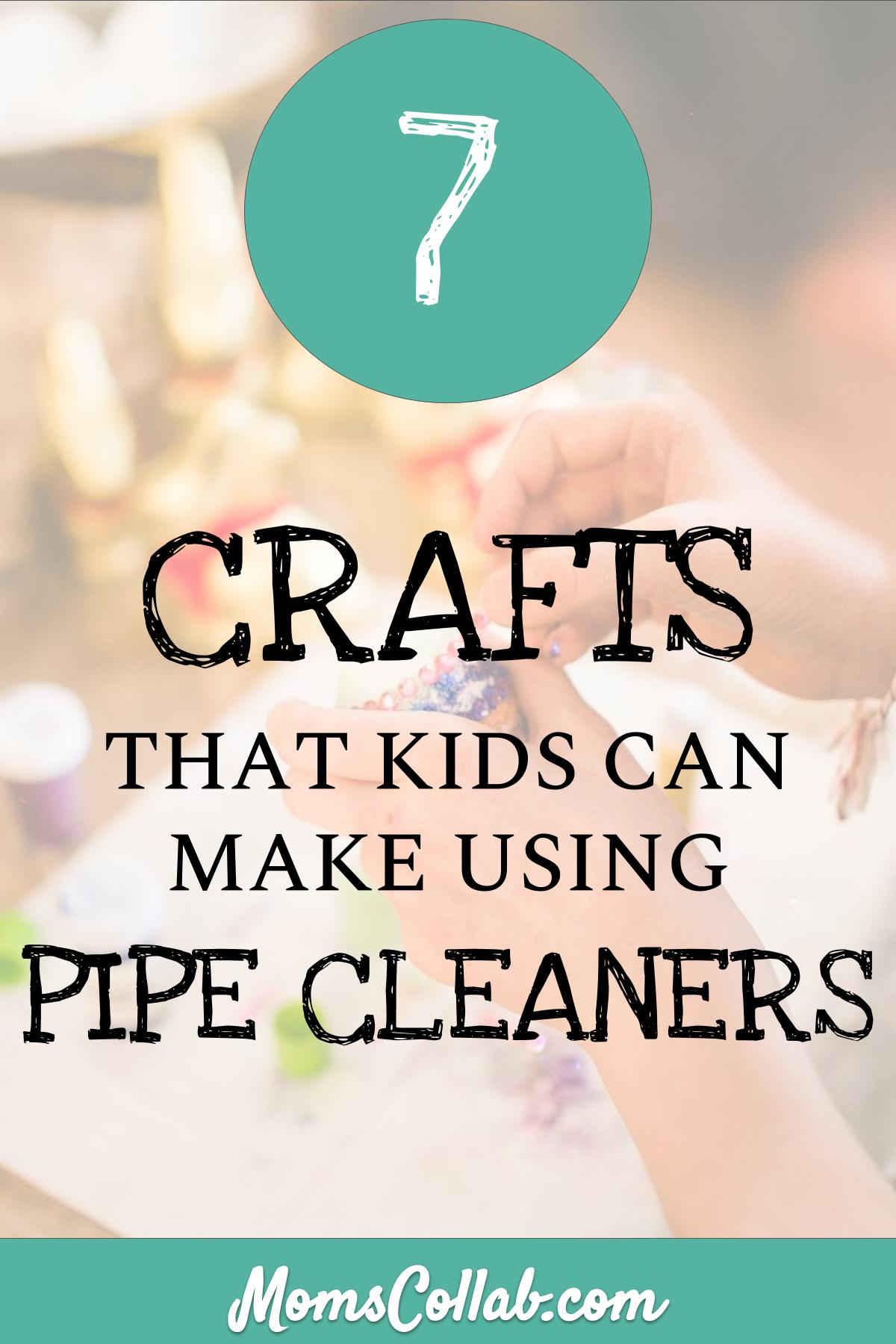 pipe cleaner crafts for kids easy