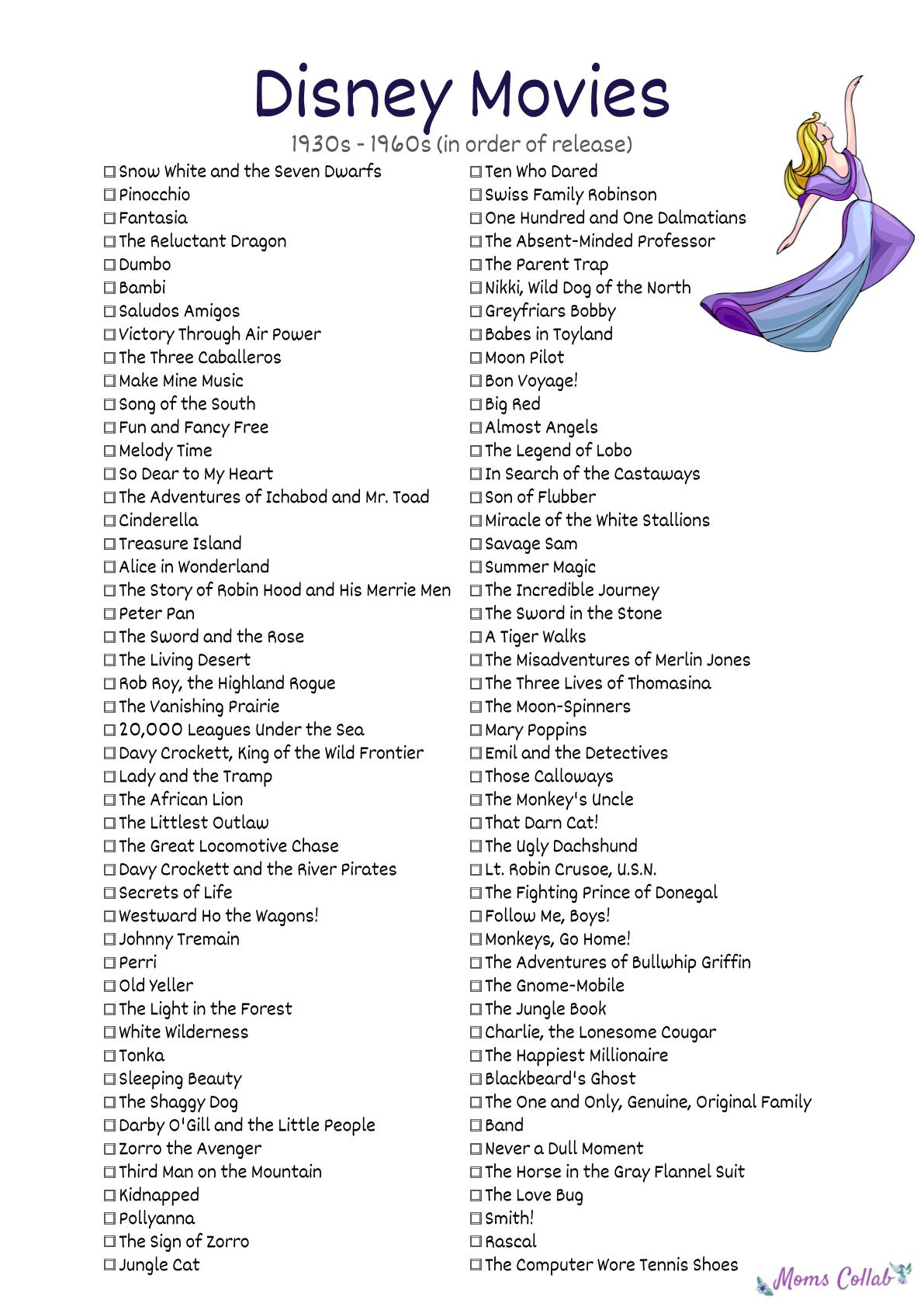Disney Movies List That You Can Download For FREE | Moms Collab