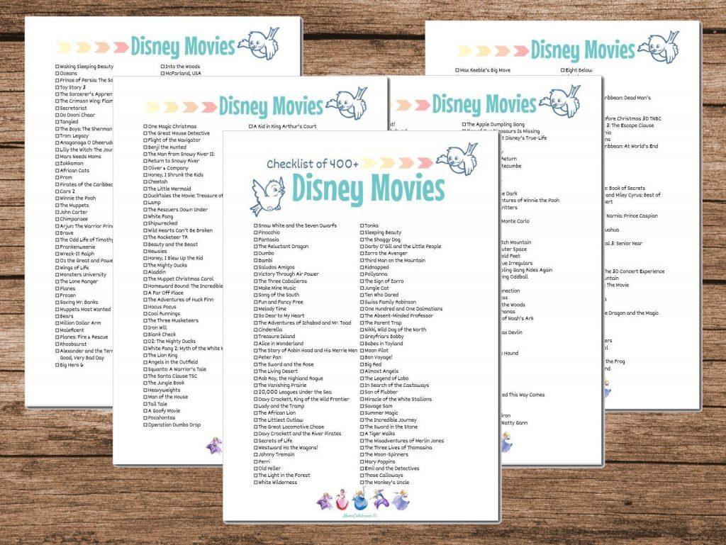 NEW Disney Movies Checklist 2020