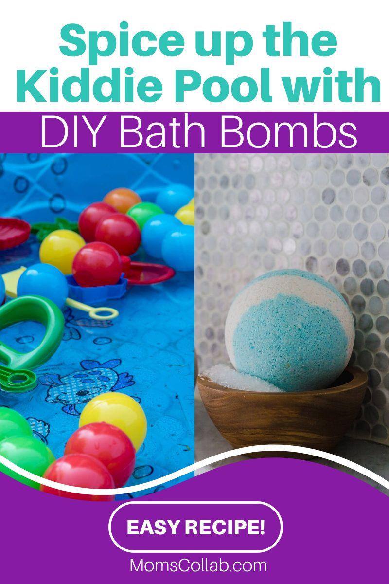 DIY bath bombs for kiddie pool