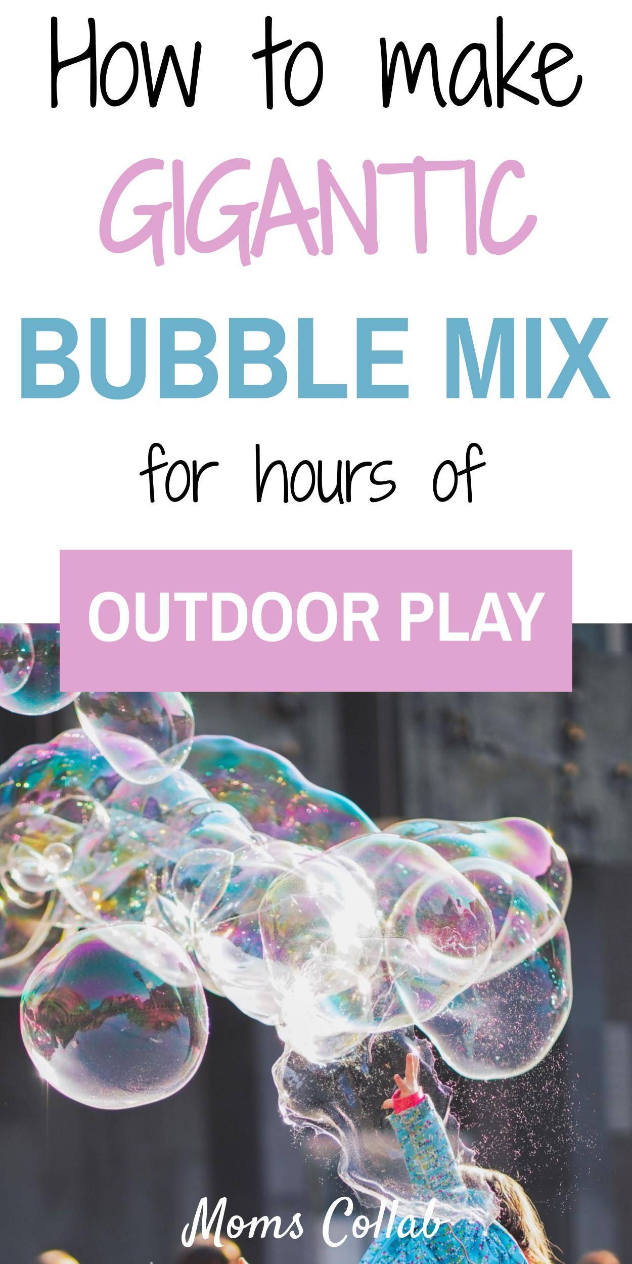 Gigantic bubble mix recipe