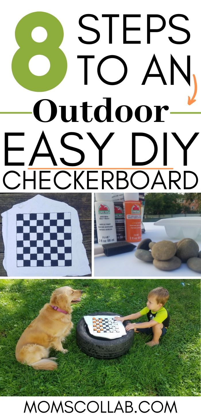 8 Steps to an Outdaoor Checkerboard