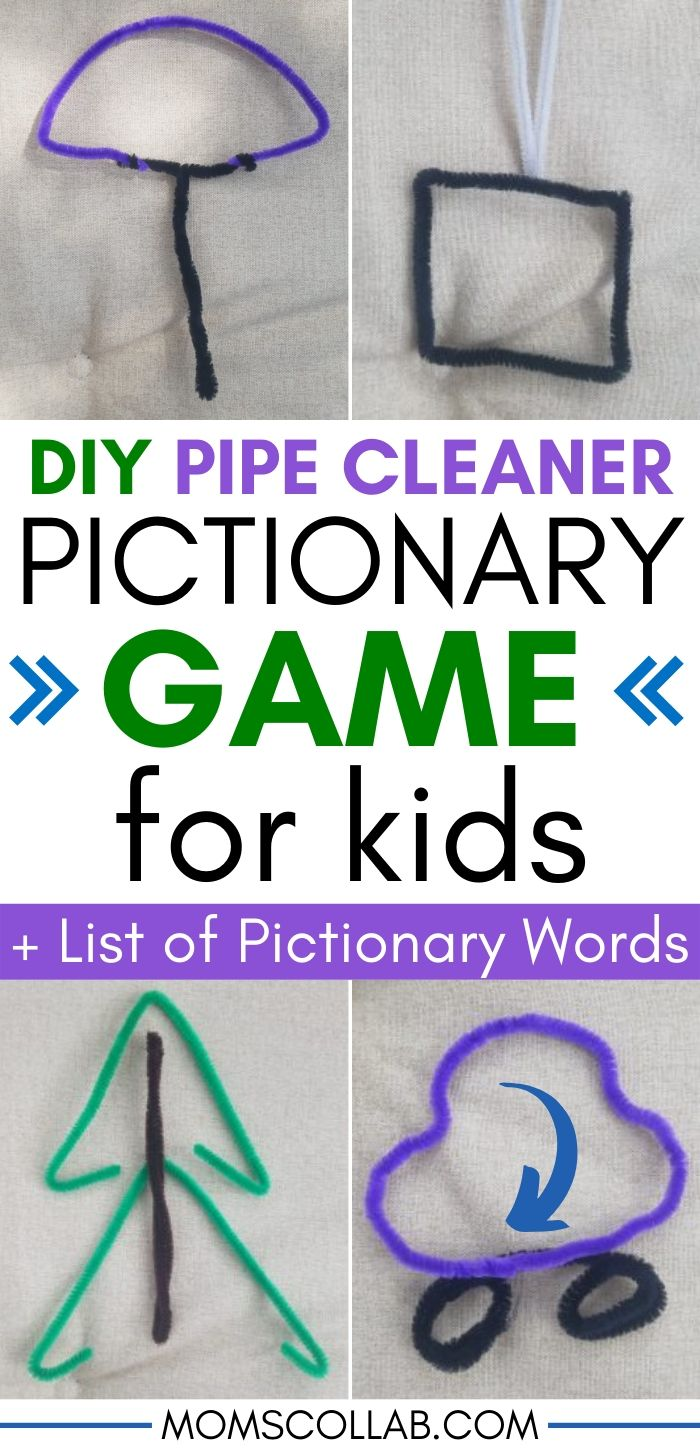 DIY Pictionary Game for Kids with Pipe Cleaners