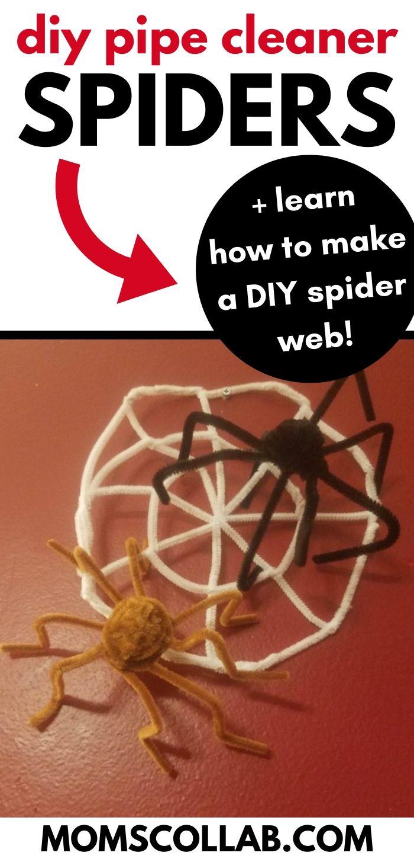 DIY Pipe Cleaner Spiders