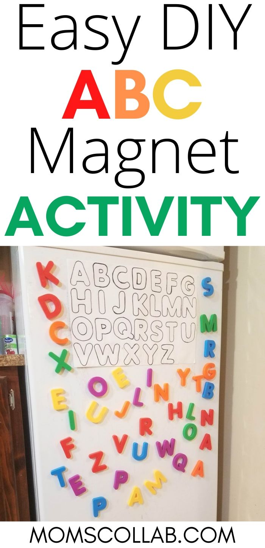 Easy DIY ABC Magnet Activity