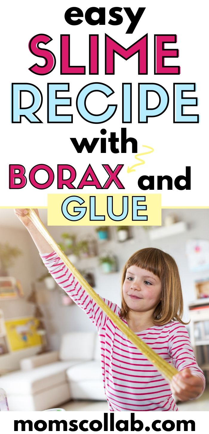 Easy Slime Recipe with Borax and Glue