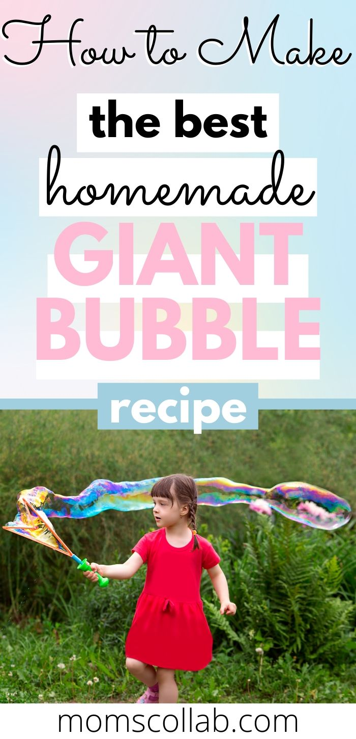 How to Make the Best Homemade Giant Bubble Recipe