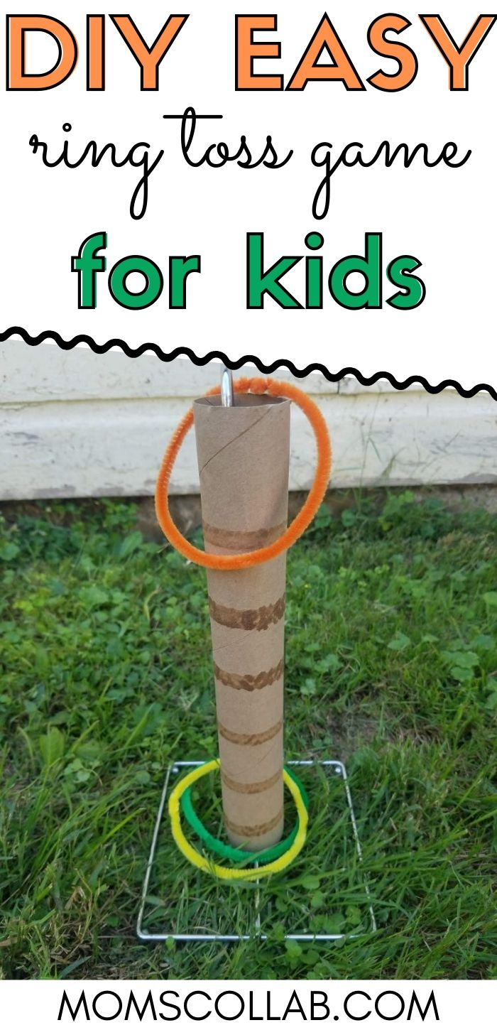 DIY Easy Ring Toss Game for Kids