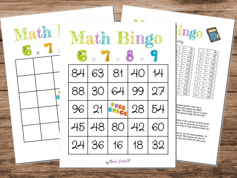 How to Make a Math Bingo Game to Help Kids Learn Arithmetic