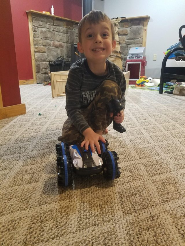 RC stunt car for 5-year-old boy