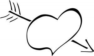 arrow through heart cupid template