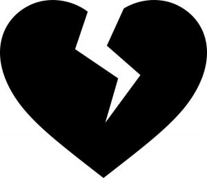 broken heart template