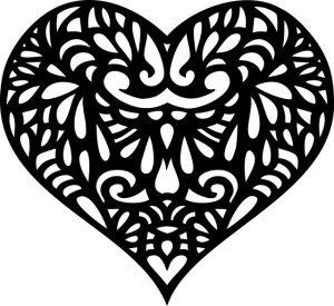 heart decorative ornamental
