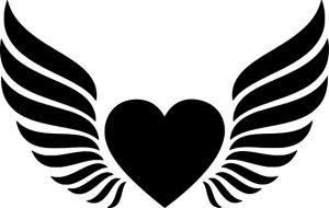 heart flying wings