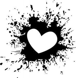heart ink splash