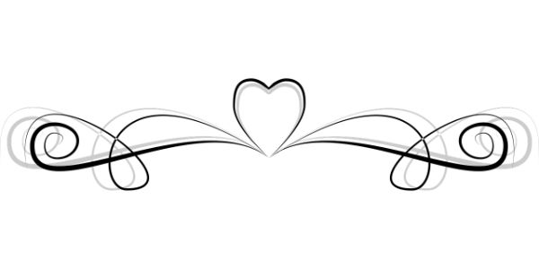 heart ornament line