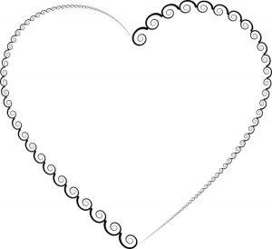 heart spirals twirls