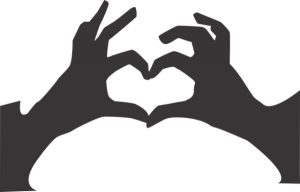 heart with fingers