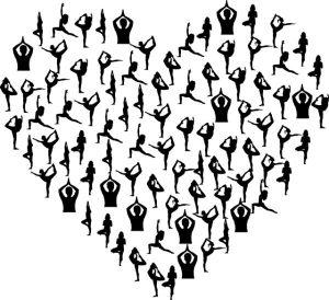heart woman stretch dance