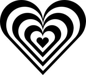 heart zebra stripes