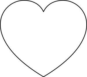 plain round heart template