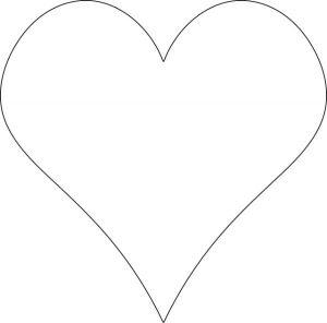 plain tall heart template