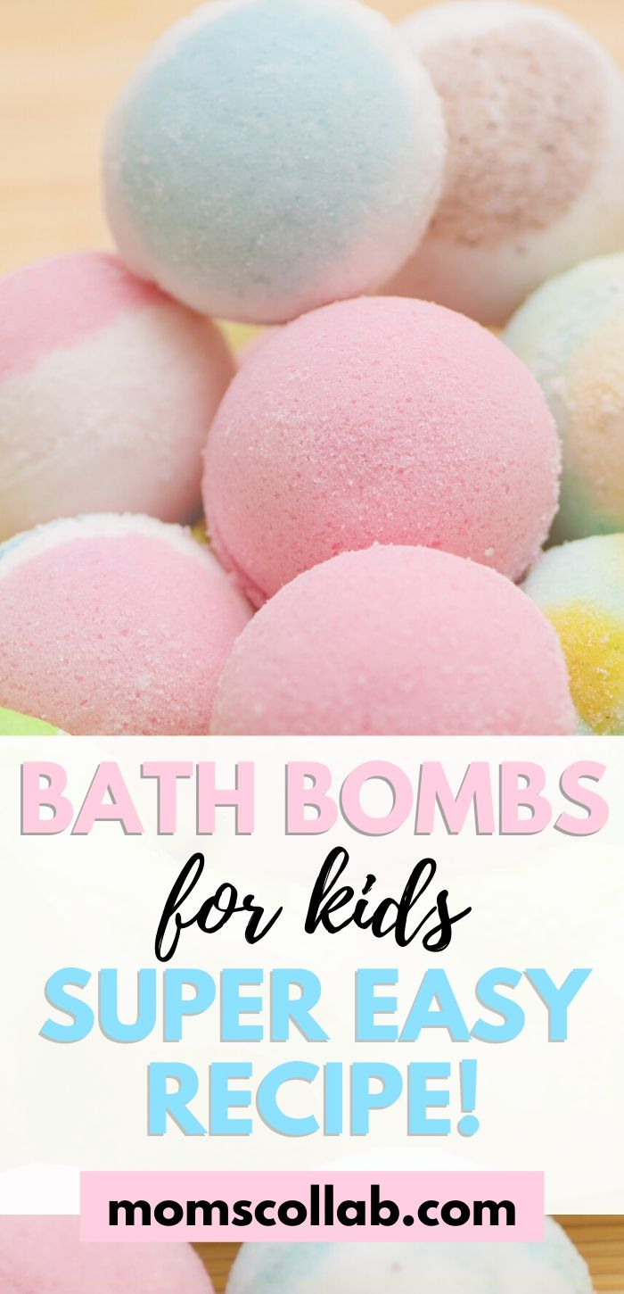 Bath Bombs for Kids Super Easy Recipe