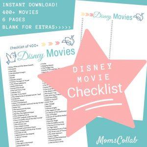 Disney Movie List Bird Design