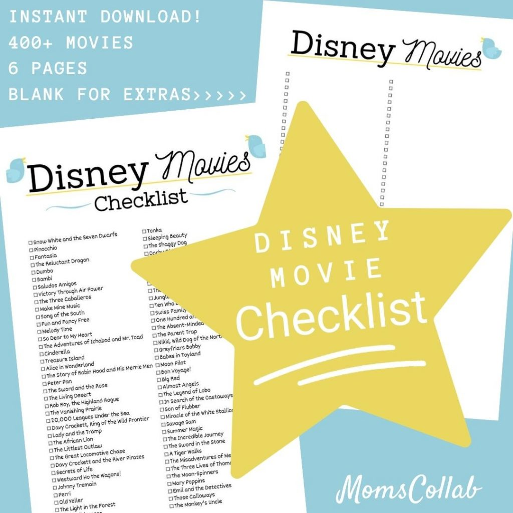 Disney Movie List Birds Design