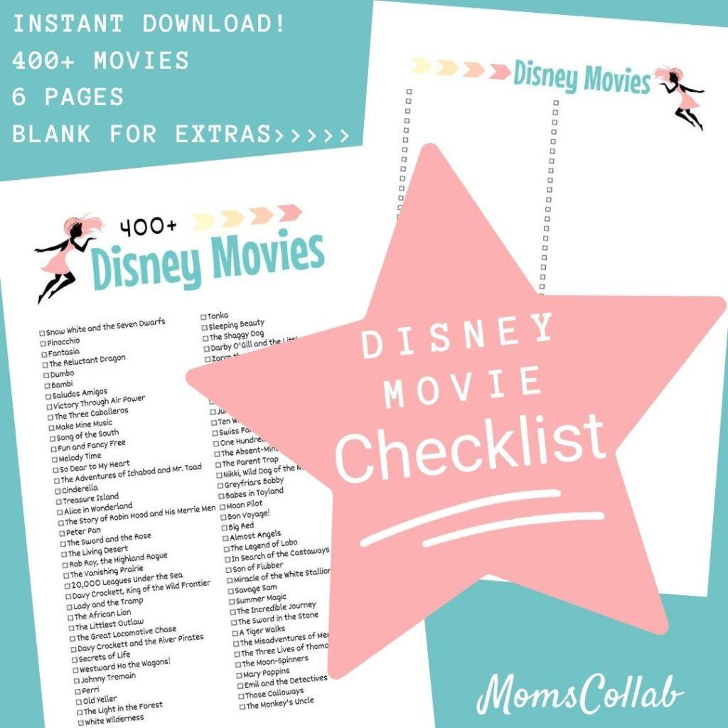 Disney Movie List Fairy Design