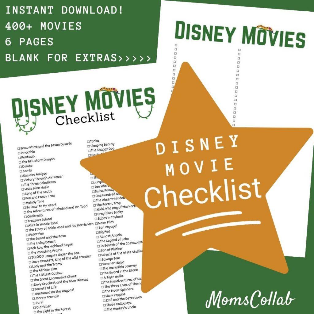 Disney Movie List Jungle Design