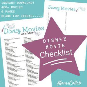 Disney Movie List Wand Design