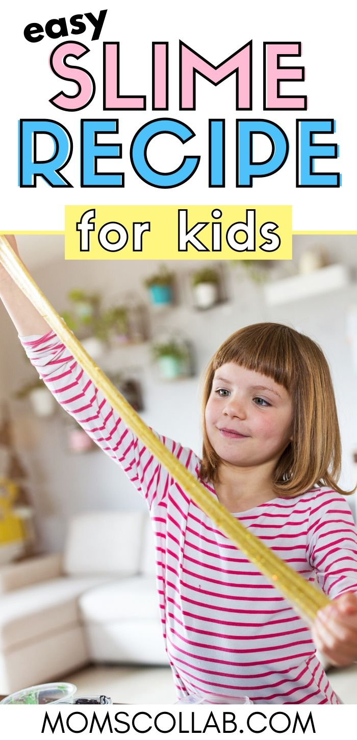 Easy Slime Recipe for Kids